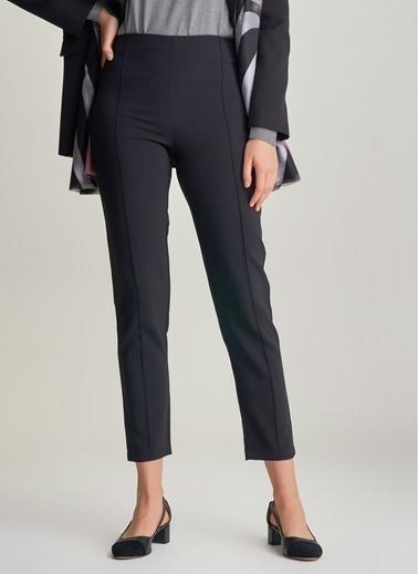 NGSTYLE Dikiş Detaylı Pantolon Siyah